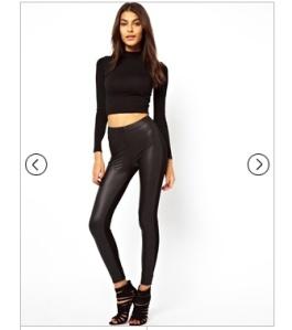 asos leather leggings